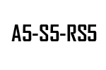 A5 - S5 - RS5